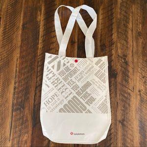 Lululemon canvass shopping bag